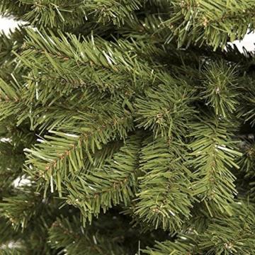 BAKAJI Albero di Natale Pino Cuore d'oro Ecologico e Ignifugo con Base a Croce in Ferro Pieghevole Super Folto Rami Innesto Ad Uncino Colore Verde (210 cm) - 4