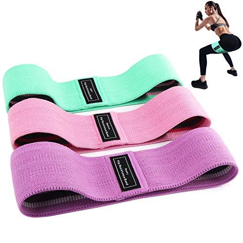 BEAU-PRO Elastici Fitness (3 Pezzi), Bande Elastiche di Resistenza Set di 3 Colorate Fasce Elastiche Fitness in Tessuto con 3 Livelli di Resistenza,per Esercizi Glutei, Yoga, Pilates, Palestra - 1