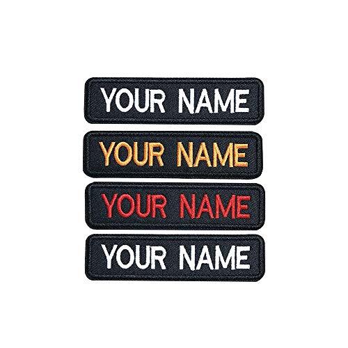 Brillianne Toppa con Etichetta Personalizzata Ricamata sul Ferro - Personalizzata con Il Tuo Nome/Colori Disponibili per Il Testo - Stira o aggancia (2 Patch) - 1
