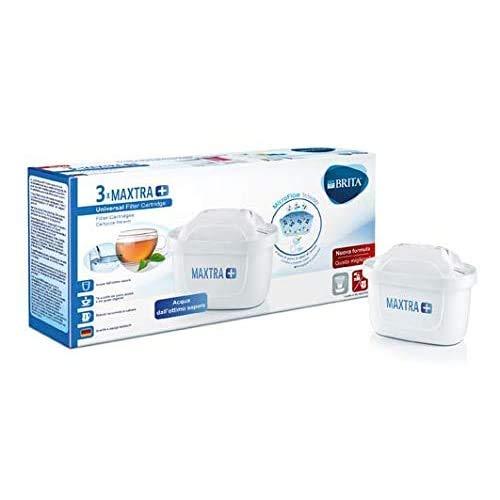 BRITA filtri MAXTRA+ Pack 3, Cartucce per caraffe filtranti, 3 filtri x 3 mesi di acqua filtrata - 1