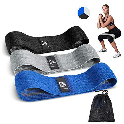 CFX Elastici Fitness, Set di 3 Elastico Fitness Fasce di Resistenza Larghe e in tessutopiù Resistente e Lunga Durata - per Fitness Yoga, Pilates, Physiotherapy - Una Custodia per Il Trasporto Inclusa - 1