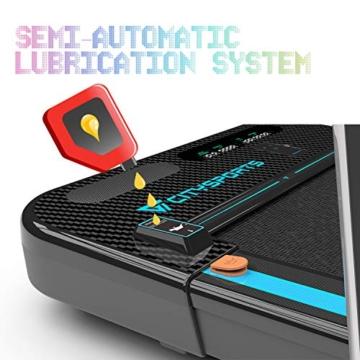 CITYSPORTS Tapis roulant Pieghevole da 440 W con braccioli controllabili e Telecomando, Altoparlante Bluetooth Incorporato, velocità Massima 8 km/h, Tapis roulant Professionale per la casa - 5