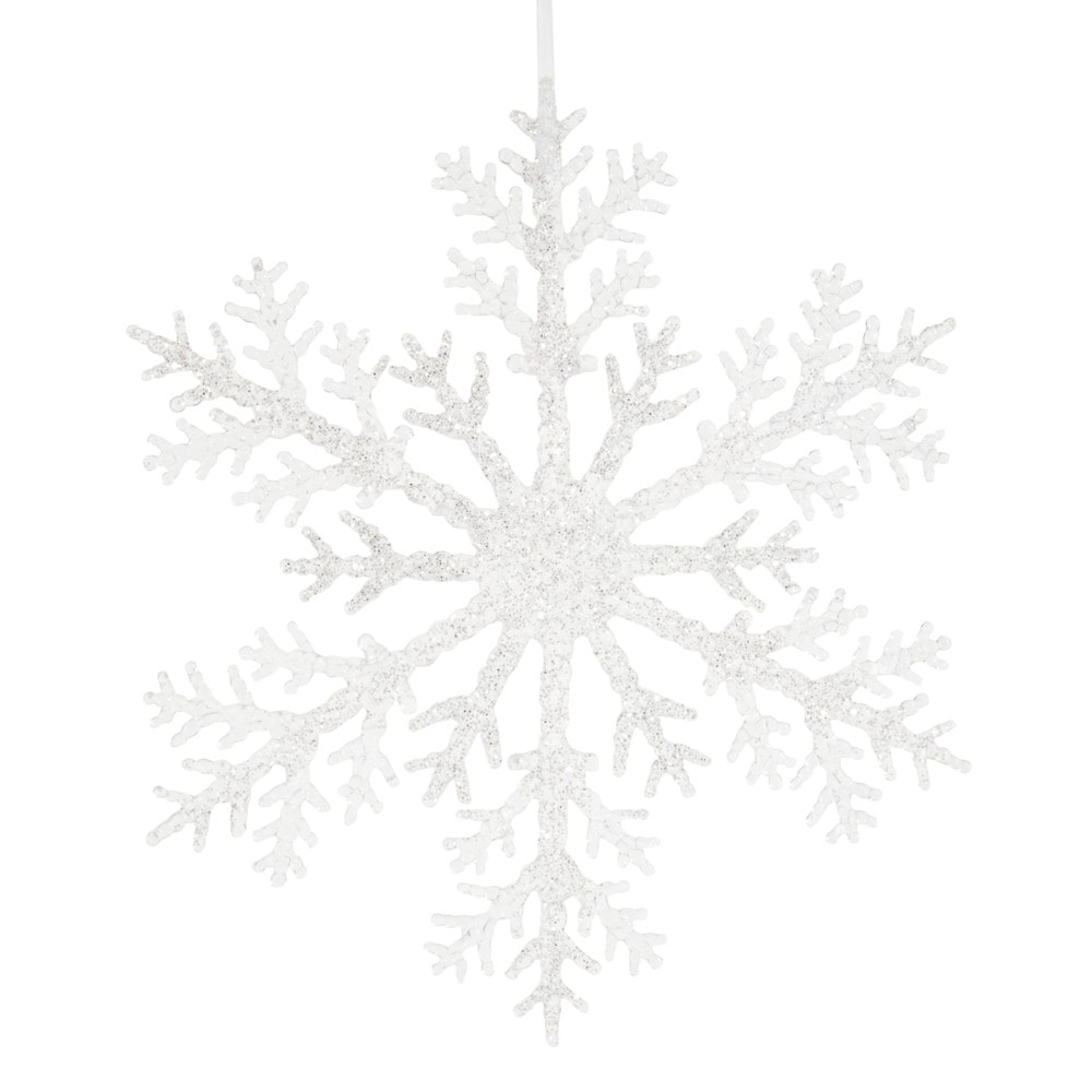 Dove acquistare Decorazione natalizia da appendere fiocco di neve argentato
