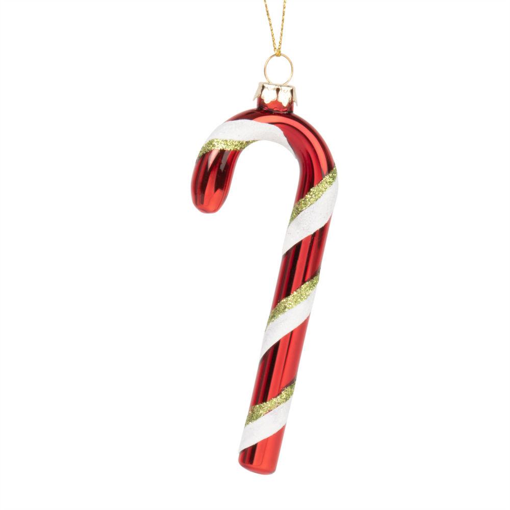 Decorazione natalizia da appendere in vetro multicolore con glitter Decorazioni di Natale