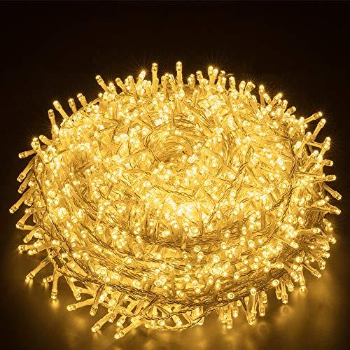 Elegear Luci Natale Esterno 25M 1000 LEDs Impermeabile Catena Luminosa LED Illuminazione di Natale per Camere da Letto Giardino Feste Matrimonio - 1