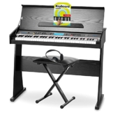 FunKey DP-61 II pianoforte digitale supporto nero panchetta cuffie - 1