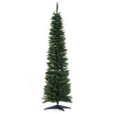 homcom Albero di Natale Artificiale Slim con 390 Rami Supporto in Metallo Altezza 180cm - 1