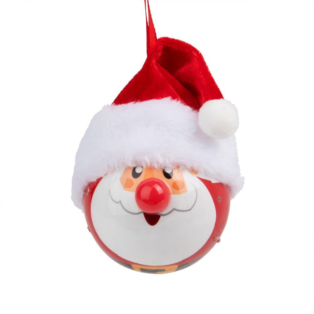 Leuchtende Weihnachtskugel, Weihnachtsmann, 5 LED