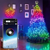 Monkys Luci a Corda Fata, luci Natalizie a Strisce LED controllate da App 20m, luci Decorative per Alberi di Natale Luci a Strisce LED Lampadine Intelligenti programmabili - 1