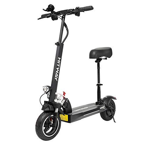 Monopattino Elettrico Scooter, Monopattino Elettrico per Adulto velocità Massima 45km/h, Fanale e Display a LED, Scooter da Super Leggero Monopattino Elettrico Pieghevole (Black) (Black) - 1