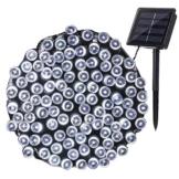 NEXVIN Luci Natale Esterno Solare 22M 200 LED, Stringa di Luci a Energia Solare Impermeabile, 8 Modi, Luci Natalizie da Esterni, Addobbi Natalizi a Albero di Natale, Balcone, Patio (Bianco) - 1