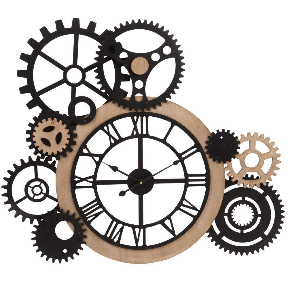 Orologio con ingranaggi 79x68 cm