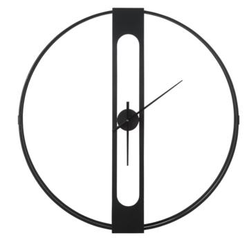 Orologio in metallo nero, D 100 cm