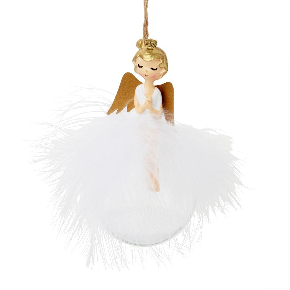 Pallina di Natale angelo e piume Decorazioni di Natale