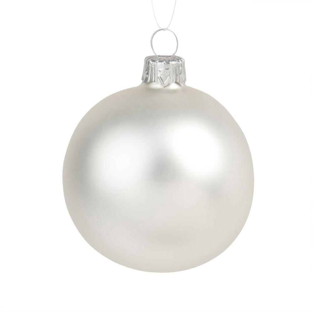Dove acquistare Pallina di Natale in vetro bianco opaco