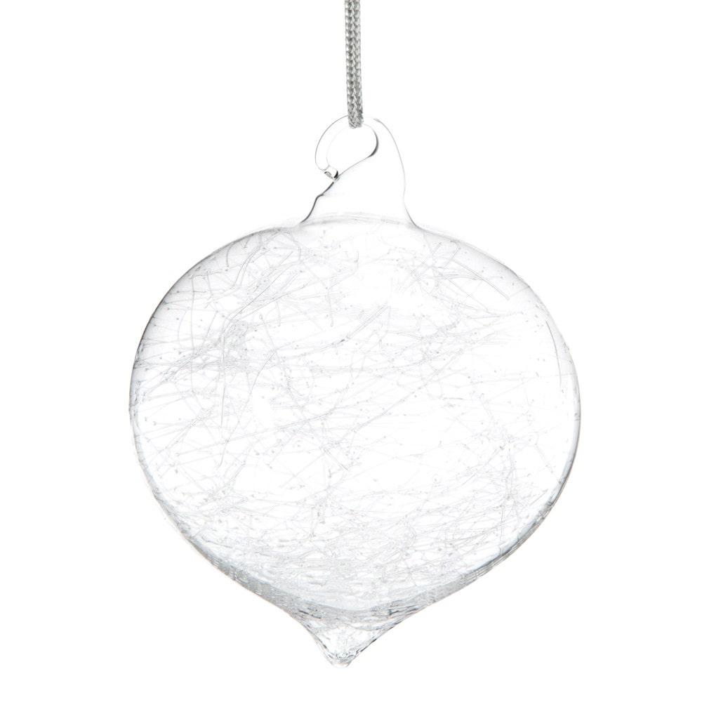 Pallina di Natale in vetro effetto rotto Decorazioni di Natale