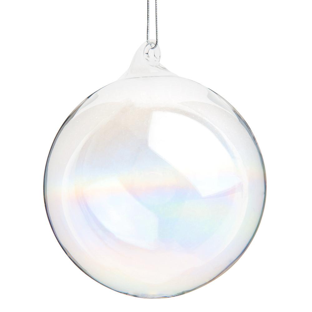 Pallina di Natale in vetro iridato, D 8 cm Decorazioni di Natale