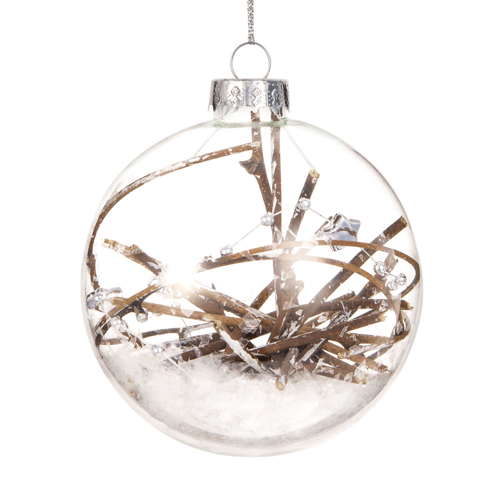 Pallina di Natale in vetro ramo di vite Decorazioni di Natale
