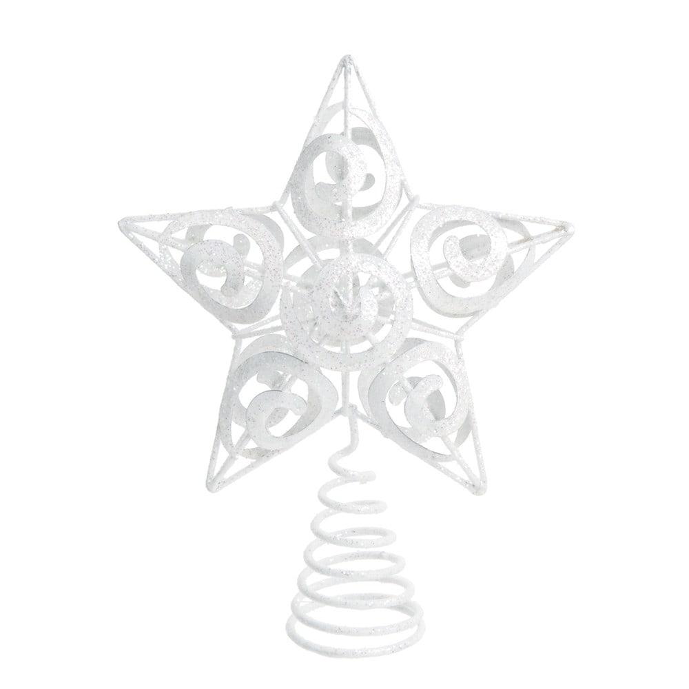 Dove acquistare Puntale per albero a stella in metallo bianco e glitter