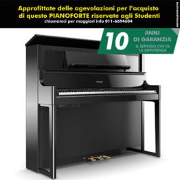 Roland LX708 PE Pianoforte Digitale Nero Lucido + Stand KSC82PE