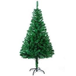 Sunjas Albero di Natale, Materiale PVC, vere pigne di abete 120cm - 1