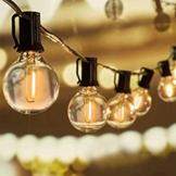 Svater Catena Luminosa Lampadina, 25FT Commerciale Catena Lampadine LED Esterno con 25 G40 Bulbi, Vintage Luce per Patio All'Aperto Giardino Festa Decorazione di Esterni Interni - 1