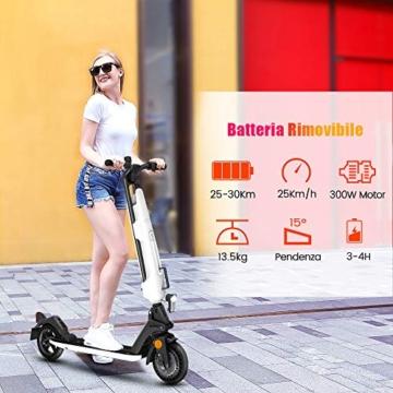 urbetter Monopattino Elettrico, 30 Km di Autonomia, 7.5Ah Batteria Rimovibile, Electric Scooter Pieghevole con Interfaccia USB, Unisex Adulto e Adolescenti - U1 - 2