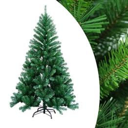wolketon 1.8m Albero di Natale Artificiale Albero di Natale Deco Albero di Natale in PVC Verde con Supporto Decorazione Natalizia con Supporto in Metallo per Interni ed Esterni-Verde - 1