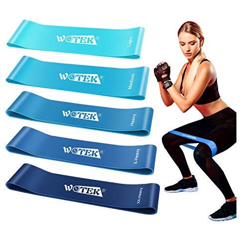 WOTEK Elastici Fitness, Bande di Resistenza Fitness con 5 Livelli di Resistenza per Fitness, Yoga,Crossfit, Squats,Allenamento di Forza , Riabilitazione Fisico e motore Elastico Bodybuilding - 1