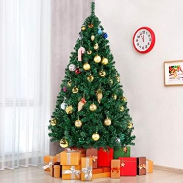 Yaheetech Albero di Natale Artificiale 180 cm 1000 Rami in PVC Effetto Realistico Base in Metallo Pieghevole Portatile - 3