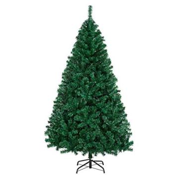 Yaheetech Albero di Natale Artificiale 180 cm 1000 Rami in PVC Effetto Realistico Base in Metallo Pieghevole Portatile - 1