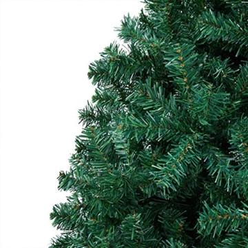 Yaheetech Albero di Natale Artificiale 180 cm 1000 Rami in PVC Effetto Realistico Base in Metallo Pieghevole Portatile - 7