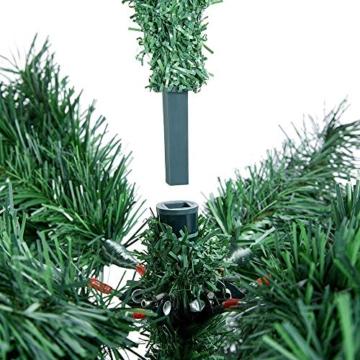 Yaheetech Albero di Natale Artificiale 180 cm 1000 Rami in PVC Effetto Realistico Base in Metallo Pieghevole Portatile - 8