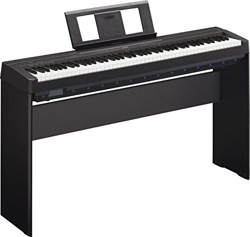 Yamaha P45B - Pianoforte Tastiera Digitale Professionale a 88 Tasti pesati + Stand L85A, Nero - 1