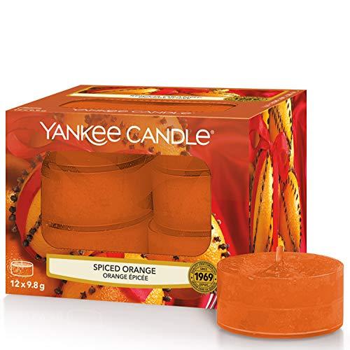 Yankee Candle candeline profumate tea light | Arancia piccante | 12 pezzi - 1