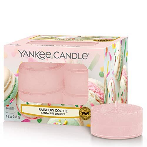 Yankee Candle candeline profumate tea light | Biscotto arcobaleno | 12 pezzi - 1