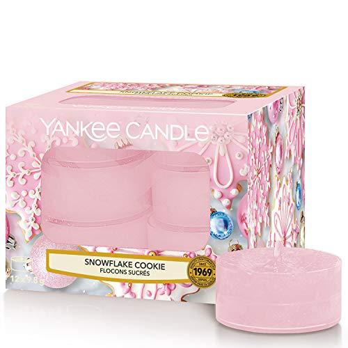 Yankee Candle candeline profumate tea light | Biscotto del fiocco di neve | 12 pezzi - 1