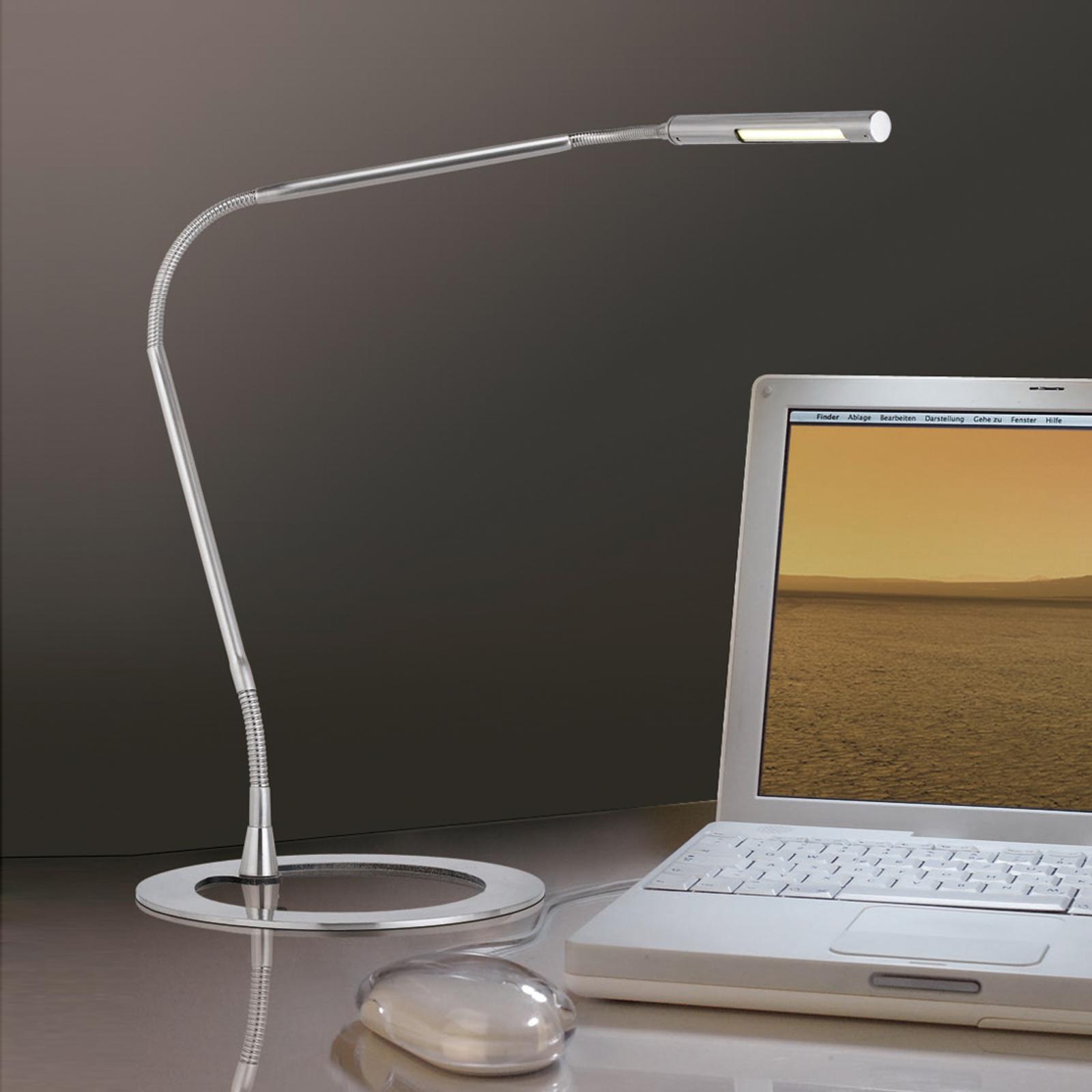 Sottile lampada da scrivania PLAZA, ferro Illuminazione per interni