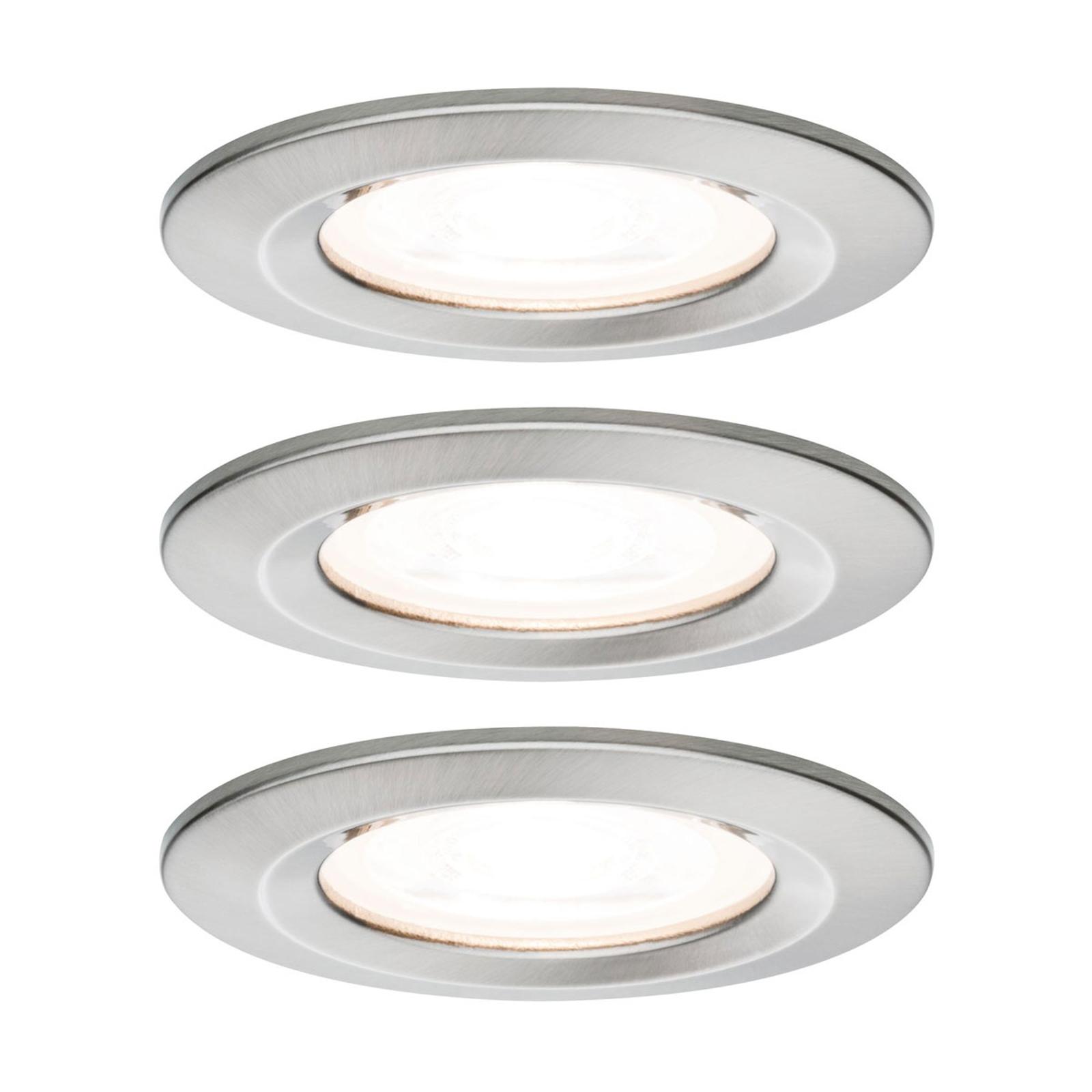 Paulmann Nova 3 faretti LED tondi, IP44, ferro Illuminazione per interni