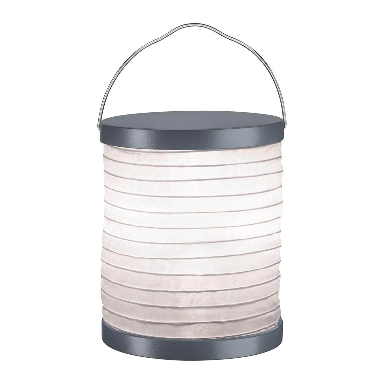 Paulmann Mobile Lampion da tavolo grigia, batteria Illuminazione per interni