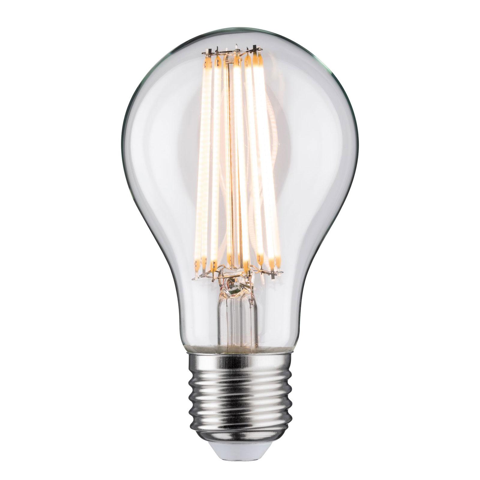 LED E27 11,5W filamenti 2.700 K, trasparente Illuminazione per interni