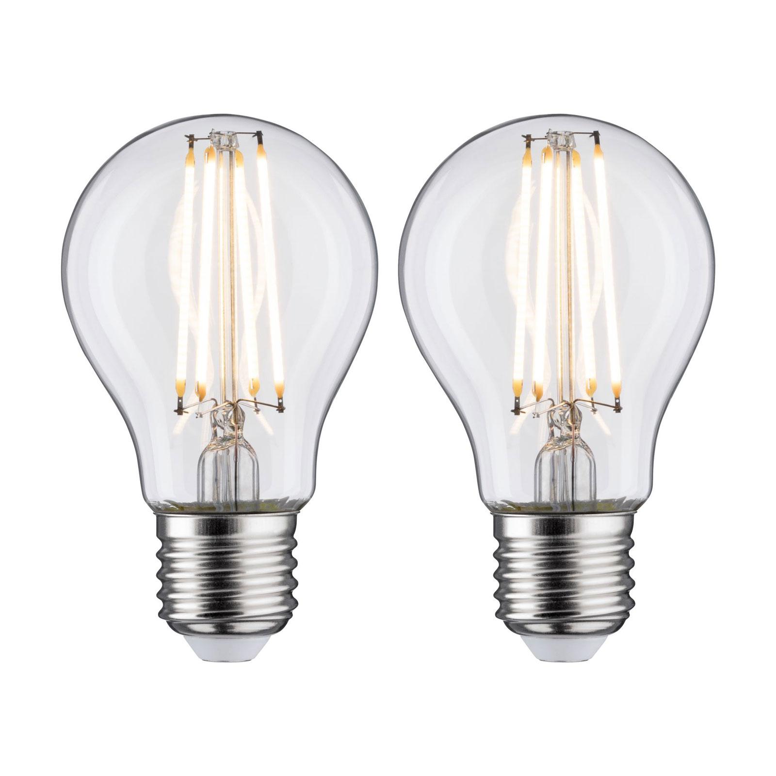LED E27 7W filamenti 2.700K trasparente 2x Illuminazione per interni