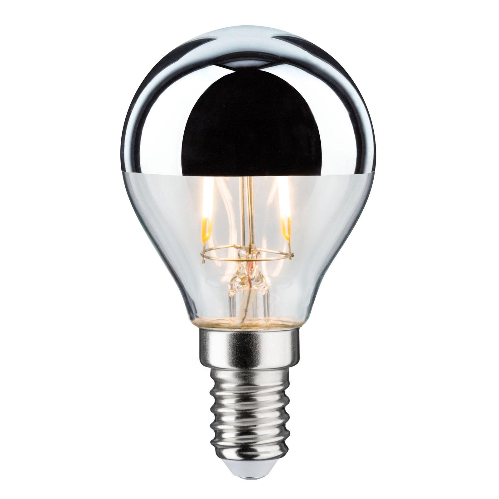 Lampadina LED E14 827 goccia dicroica argento 2,6W Illuminazione per interni