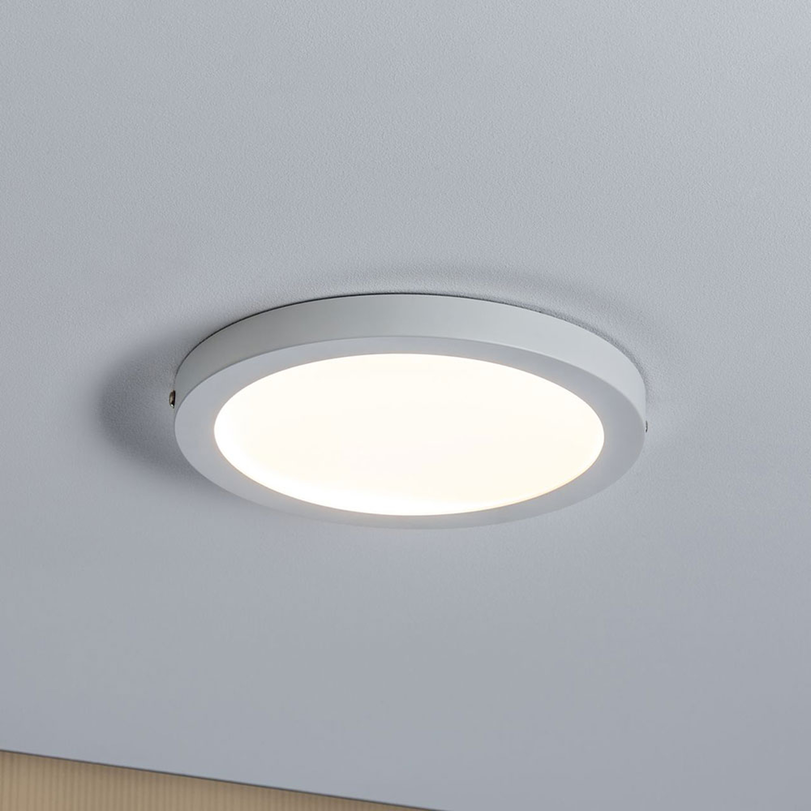 Paulmann Atria plafoniera LED Ø22cm bianco satin. Illuminazione per interni