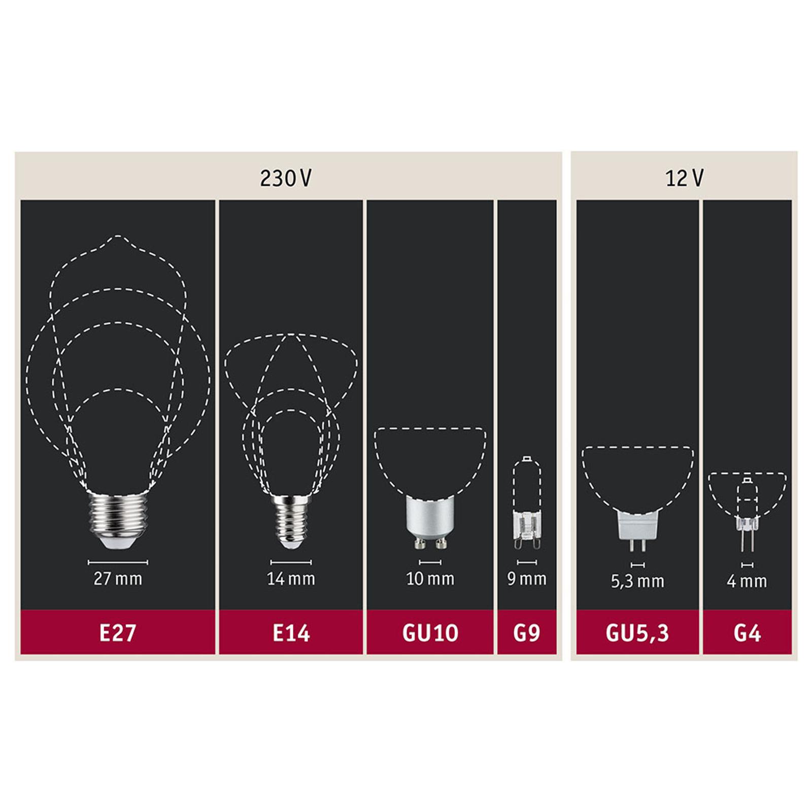 Paulmann LED-Globe E27 Inner Shape G95 4W oro Illuminazione per interni