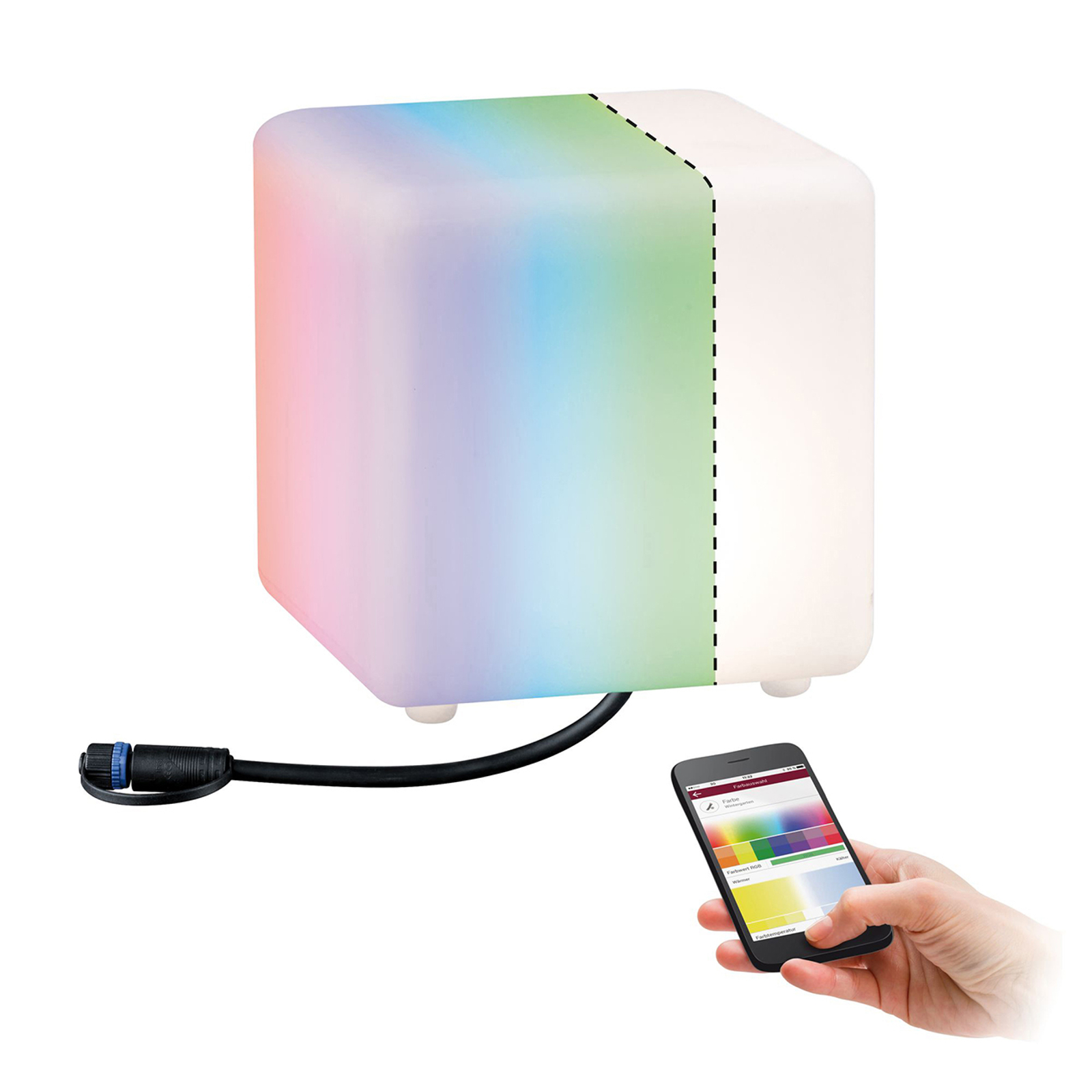 Dove acquistare Paulmann Plug & Shine decorativo Cube, ZigBee RGBW