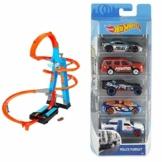 Hot-Wheels - Torre Scontri Estremi, Pista Alta 83cm con Booster Motorizzato e Macchinina, Giocattolo per Bambini 5+ Anni, Pack Sostenibile, GWT39 + automobiline - 1