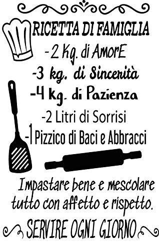 Adesivo da parete in vinile con frase in italiano