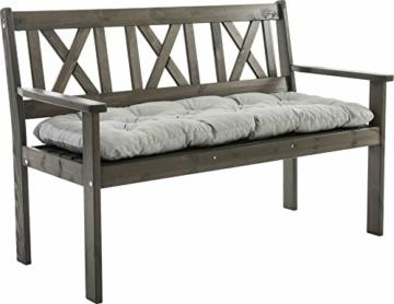 Ambientehome–Cuscino, Modello: EVJE, ca 120x 50x 8cm, Cuscino per Panca da 2 posti - 2