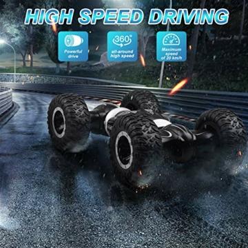 ETEPON Macchina Telecomandata, 2.4Ghz RC Auto 4WD Stunt Car, Deformazione ad Alta velocità Macchina Radiocomandata per Bambini Giocattoli - EQ70 - 4